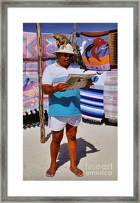 Perfect Posture Portrait Framed Print by John Malone
