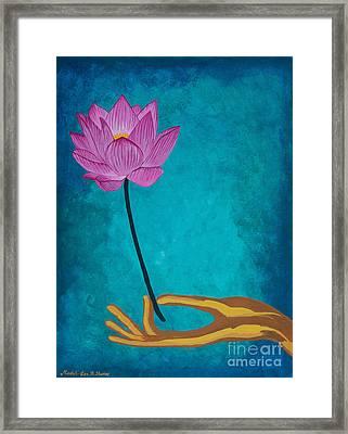 Wisdom Flower Framed Print by Mindah-Lee Kumar