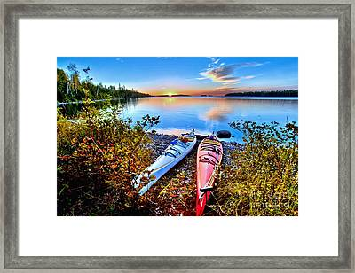 Perfectly Calm Framed Print by Adam Jewell