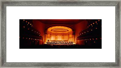 Performers On A Stage, Carnegie Hall Framed Print by Panoramic Images
