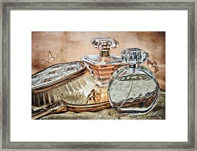 Perfume Bottle Ix Framed Print by Tom Mc Nemar
