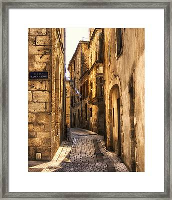 Perigueux Street Framed Print by Georgia Fowler