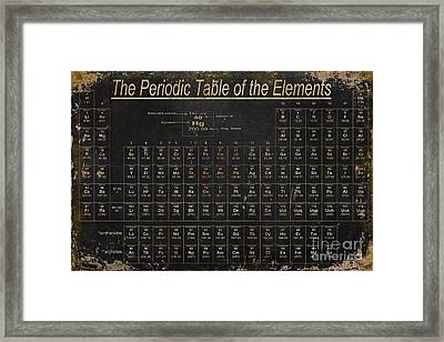Periodic Table Of The Elements Framed Print by Grace Pullen