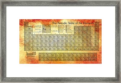 Periodic Table Of The Elements Framed Print by Georgia Fowler