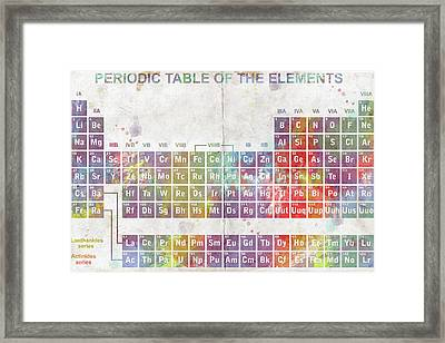 Periodic Table Of The Elements Framed Print by Paulette B Wright