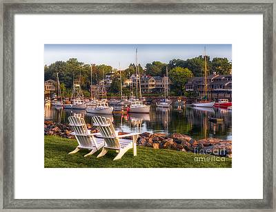 Perkins Cove Harbor Framed Print by Jerry Fornarotto