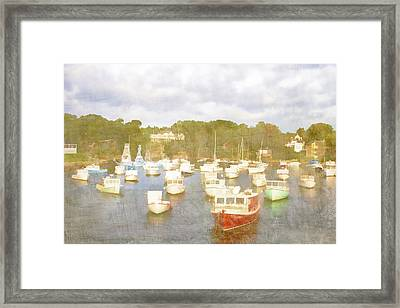 Perkins Cove Lobster Boats Maine Framed Print by Carol Leigh