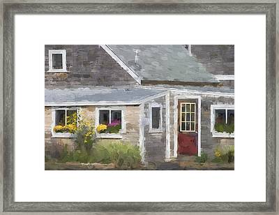 Perkins Cove Maine Painterly Effect Framed Print by Carol Leigh