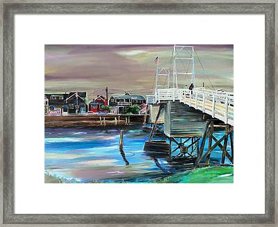 Perkins Cove Maine Framed Print by Scott Nelson