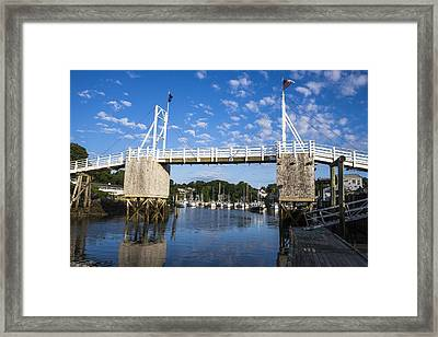 Perkins Cove - Maine Framed Print by Steven Ralser