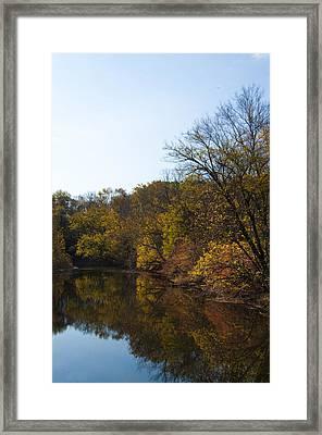 Perkiomen Creek In Autumn Framed Print by Bill Cannon