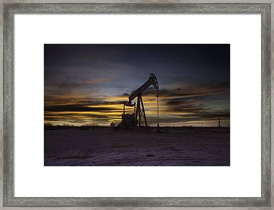 Permian Basin Gold Framed Print by John Dickinson