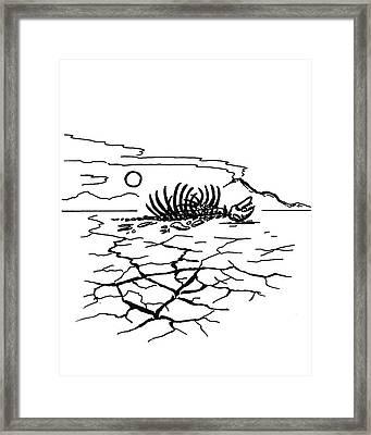 Permian Extinction Framed Print by Richard Bizley