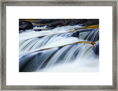 Perpetual Falling Framed Print by Aimelle