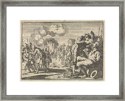 Persecution Of The Reformers In The Netherlands Framed Print by Quint Lox