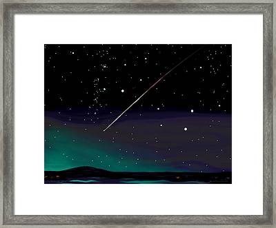 Perseid Meteor Shower  Framed Print by Jean Pacheco Ravinski