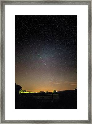 Perseid Meteor Trail 2015 Framed Print by Chris Madeley