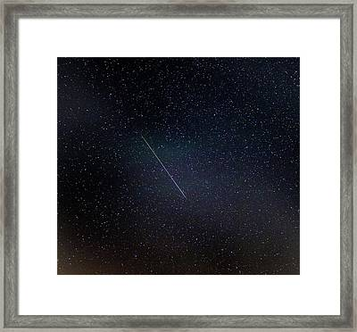 Perseid Meteor Trail Framed Print by Chris Madeley