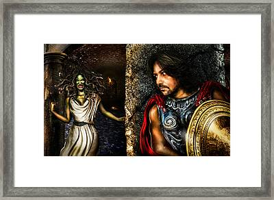 Perseus And Medusa Framed Print by Alessandro Della Pietra