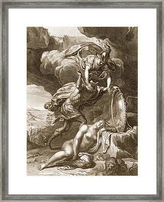 Perseus Cuts Off Medusas Head, 1731 Framed Print by Bernard Picart