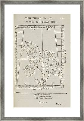Perseusstar Constellation Framed Print by British Library