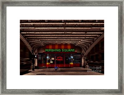 Pershing Square Cafe Framed Print by Susan Candelario