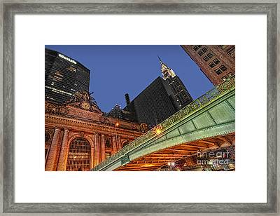 Pershing Square Framed Print by Susan Candelario