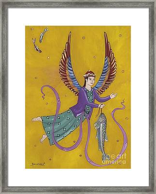 Persian Angel Raphael Framed Print by Sue Betanzos