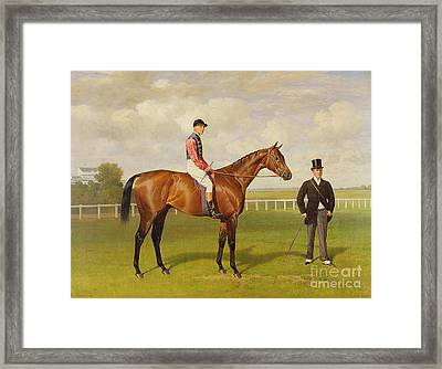 Persimmon Winner Of The 1896 Derby Framed Print by Emil Adam