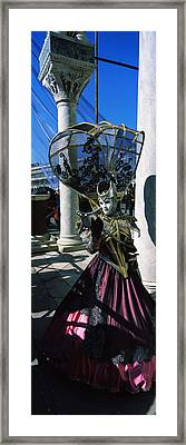 Person In Traditional Costumes Framed Print by Panoramic Images