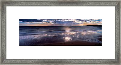 Person Standing On The Beach Framed Print by Panoramic Images