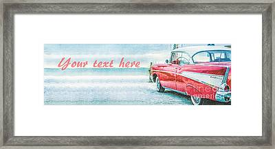 Free Personalized Custom Beach Art Framed Print by Edward Fielding