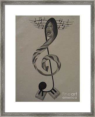 Personification Of Music Framed Print by Jeepee Aero