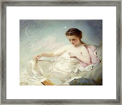 Personification Of The Sciences Framed Print by Charles Chaplin