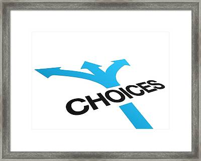 Perspective Choices Sign Framed Print by Aged Pixel