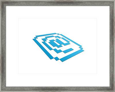 Perspective Email Sign Framed Print by Aged Pixel