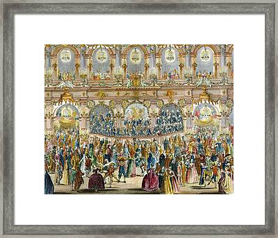Perspective View Of The Ballroom Framed Print by French School