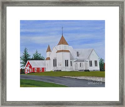Peru Congregational Church Framed Print by Sally Rice