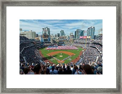 Petco Park Season Opener 2011 Framed Print by Mark Whitt