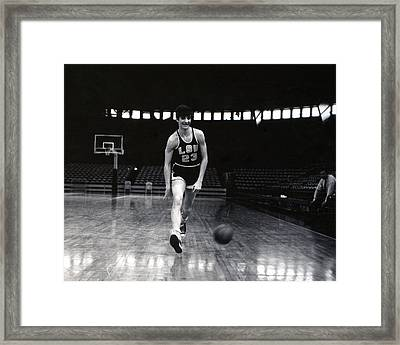 Pete Maravich Dribbling Between Legs Framed Print by Retro Images Archive