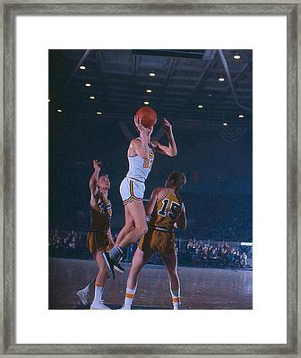 Pete Maravich Floater Framed Print by Retro Images Archive