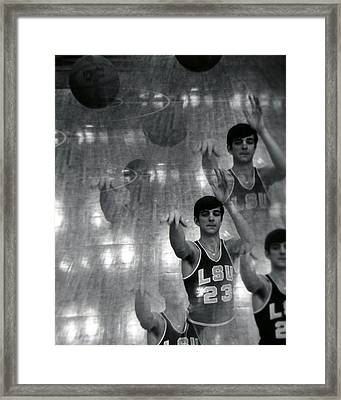 Pete Maravich Kaleidoscope Framed Print by Retro Images Archive