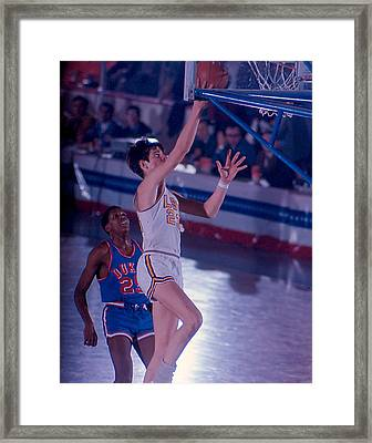 Pete Maravich Layup Framed Print by Retro Images Archive
