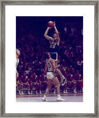 Pete Maravich Leaning Jumper Framed Print by Retro Images Archive