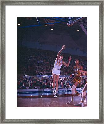 Pete Maravich Shot From The Corner Framed Print by Retro Images Archive
