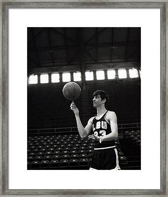 Pete Maravich Spinning Ball On Finger Framed Print by Retro Images Archive