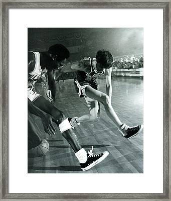Pete Maravich Tricky Pass Framed Print by Retro Images Archive