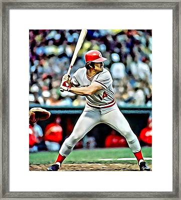 Pete Rose Framed Print by Florian Rodarte