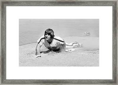 Pete Rose Framed Print by Glenn McCurdy