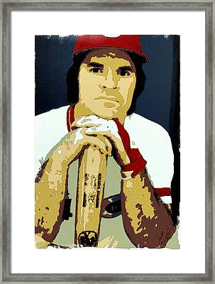 Pete Rose Poster Art Framed Print by Florian Rodarte